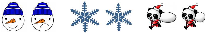 Exemples de différences - Thème Noël
