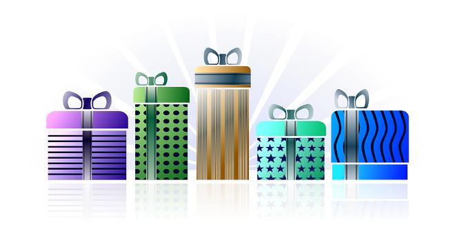 Cadeaux bien emballés