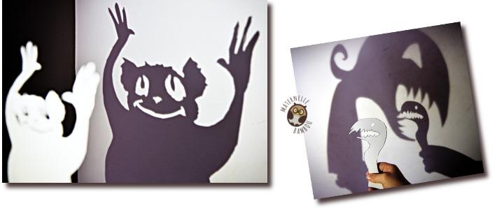 Théâtre d'ombres en GS - Projection et manipulation de marottes