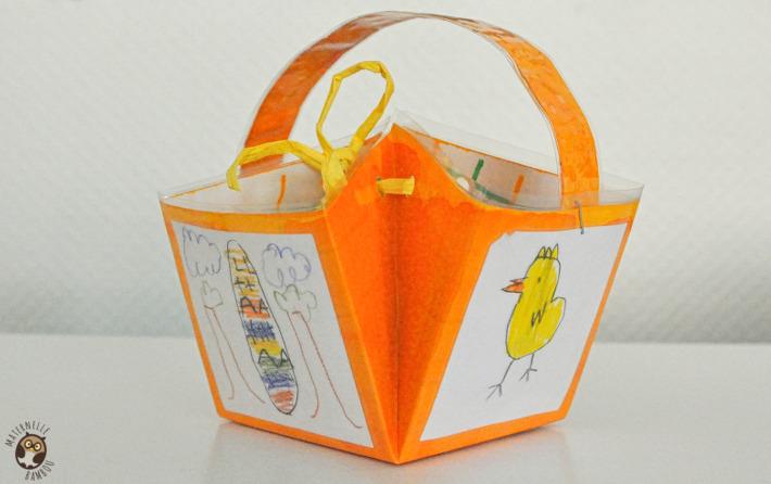 Panier à Tisser Maternelle : Petit panier de p?ques ms gs maternelle bambou