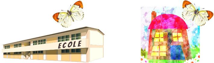 Vole vole vole papillon au-dessus de ma maison