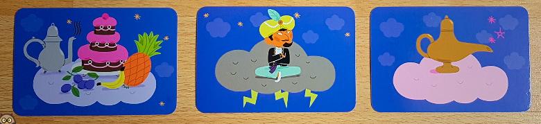 Cartes spéciales du jeu Aladin : la course des tapis volants