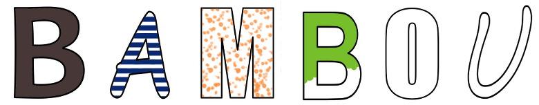 Alphabets en lettres creuses format a4 maternelle de bambou - Lettre a decouper ...
