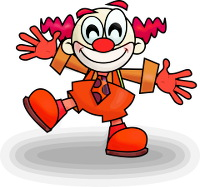 clown tout rouge