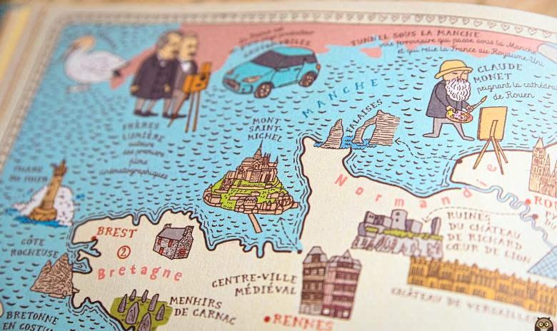 Cartes - France - Détail sur la Bretagne et la Normandie