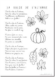 valse de l'automne - les paroles en pdf
