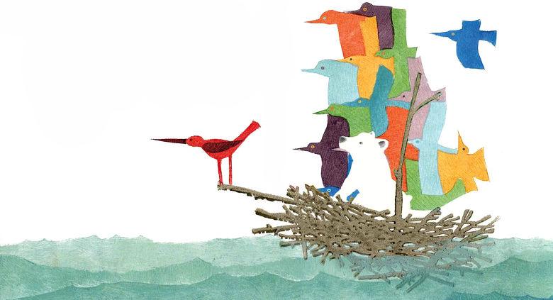 Le bateau-nid construit pour Tibouli
