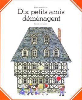 """Couverture de l'album """"Dix petits amis déménagent"""""""