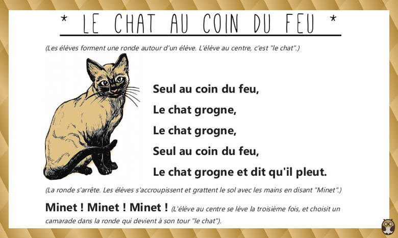 chat au coin du feu - paroles