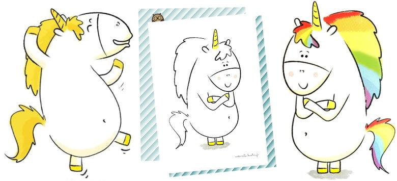 Gaston avec une crinière à colorier en pdf