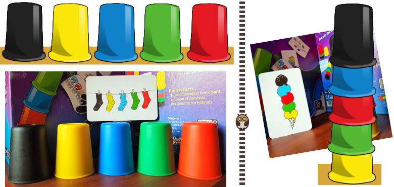 Crazy Cups - positionner ses gobelets correctement en les alignant ou en les empilant