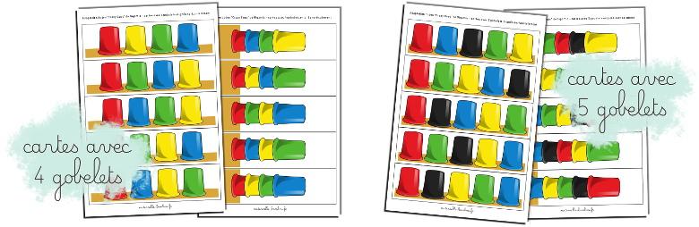 Cartes en pdf pour adaptation du jeu Crazy Cups