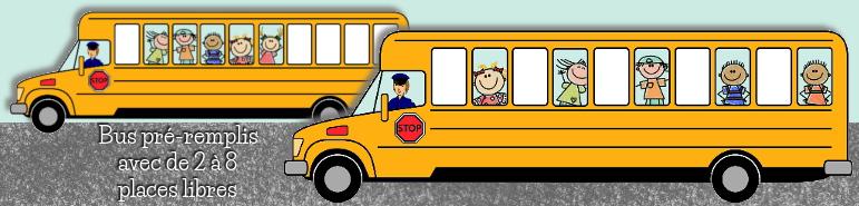 Jeu des voyageurs d'Ermel - bus à remplir