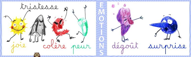 personnages pour océan des émotions