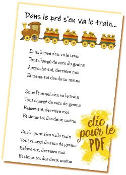 Dans Le Pré S En Va Le Train Jeu Dansé Maternelle De Bambou