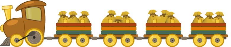 dans le pré s'en va le train tout chargé de sacs de grain
