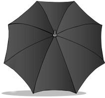 le parapluie gris du petit de monsieur et madame pouce