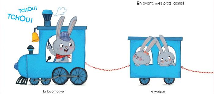 Le petit train de lapin - Cécile Hudrisier