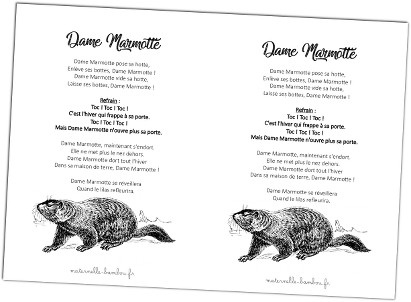 Dame Marmotte - pdf avec paroles