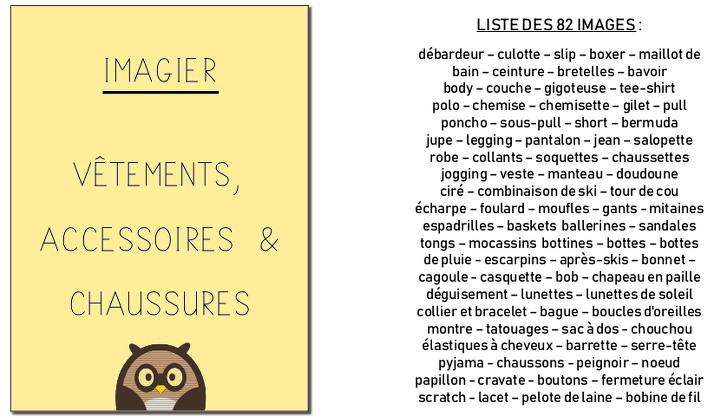 imagier - vêtements, accessoires et chaussures