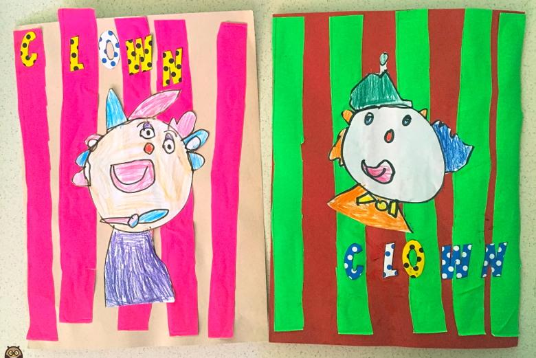 dessins de clowns en MS