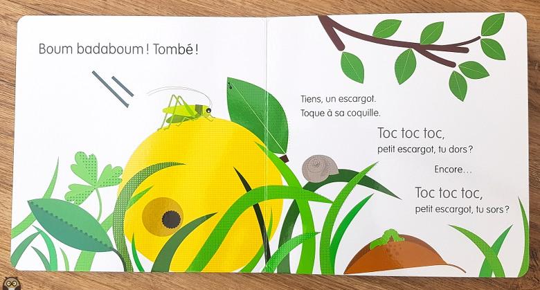 "Toc toc toc petit escargot - ""Regarde !"" de Corinne Dreyfuss"