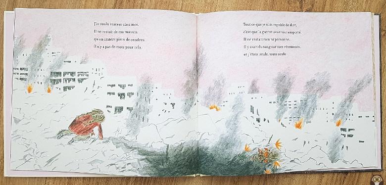 """le jour où la guerre est arrivée - """"Il ne restait de ma maison qu'un cratère plein de cendres. Il n'y a pas de mots pour cela."""""""