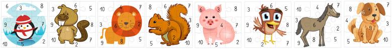 puzzles pour le jeu du cochon qui rit - support pour GS