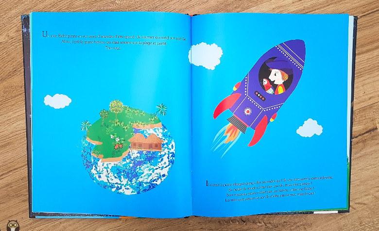 le petit pirate des étoiles - bébé-pirat part en bateau-fusée.