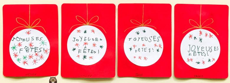 """""""joyeuses fêtes"""" - carte de Noël"""