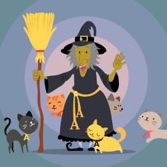 Maraba, qui aime les A et les chats - la famille de sorcières pour les voyelles - Venot