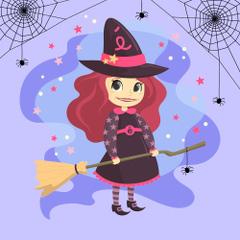 Mérébé, qui aime les É et les araignées - la famille de sorcières pour les voyelles - Venot