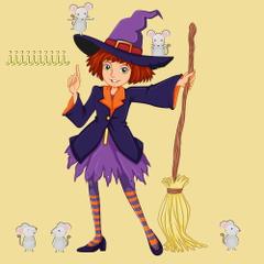 Miribi, qui aime les I et les souris - la famille de sorcières pour les voyelles - Venot