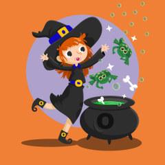 Morobo, qui aime les O, les os et les crapauds - la famille de sorcières pour les voyelles - Venot