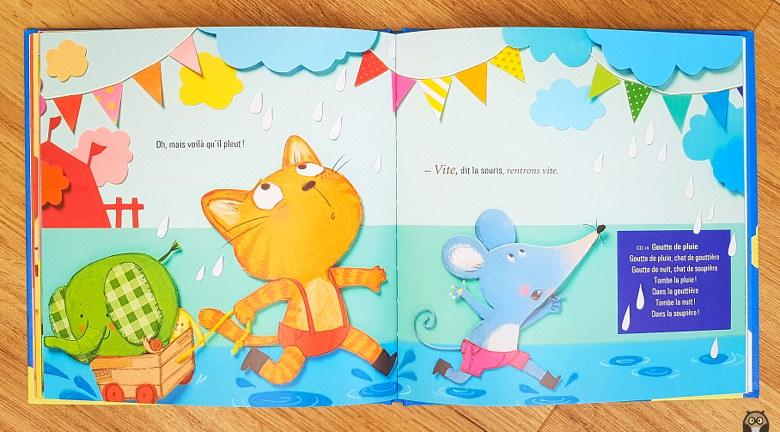 Petit Chat à la fête foraine - Oh, mais voilà qu'il pleut !