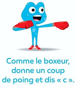 """la petite grenouille Apili - Comme le boxeur, donne un coup de poing et dis """"c"""""""