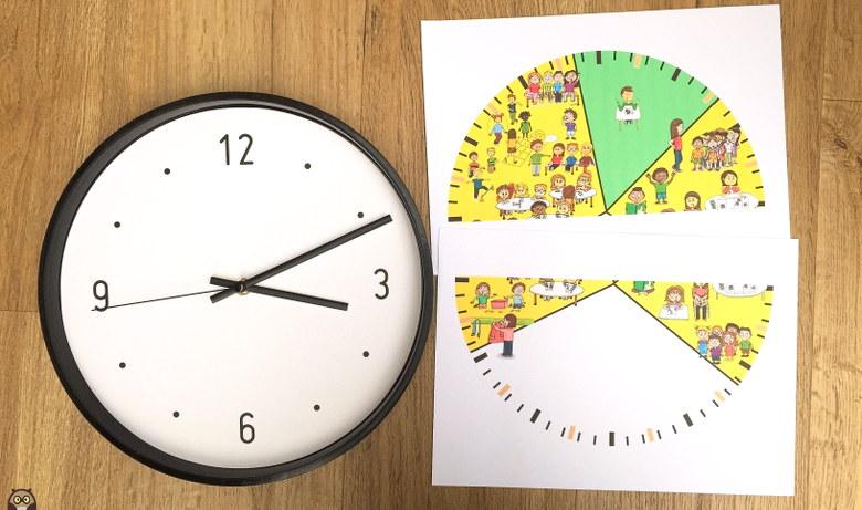 horloge amazonbasics à customiser pour une pendule de classe