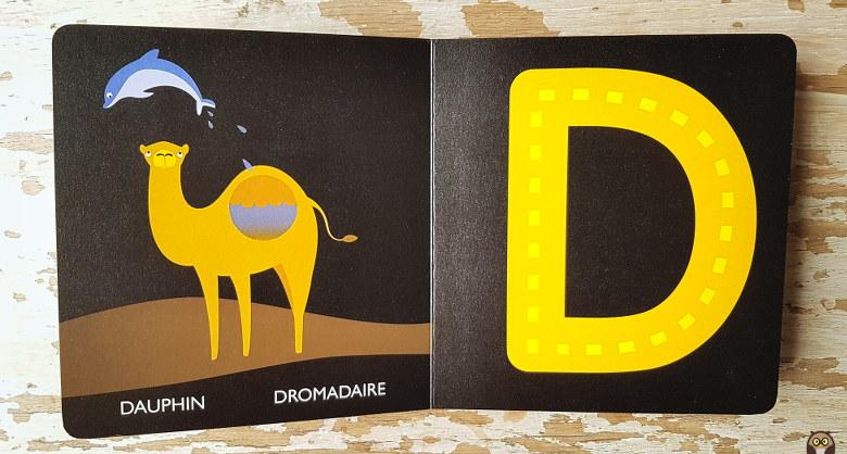 Dauphin, Dromadaire - Dessine les lettres avec ton doigt - Lettre D