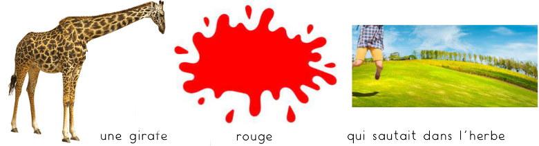 """Une girafe rouge qui sautait dans l'herbe... séquence """"souris verte"""" de Thierry Venot"""