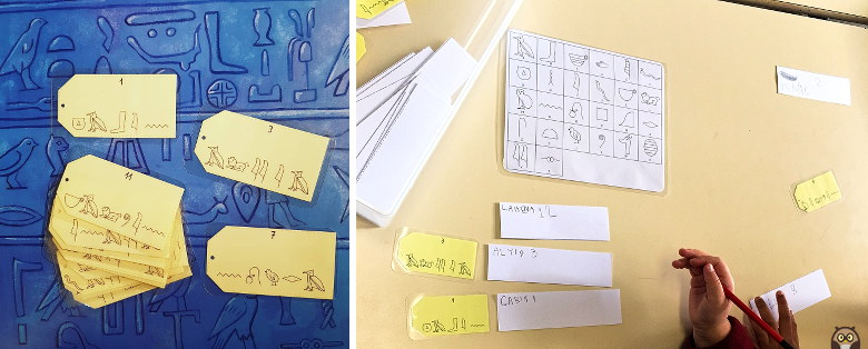 Petit Noun et les signes secrets : les hiéroglyphes