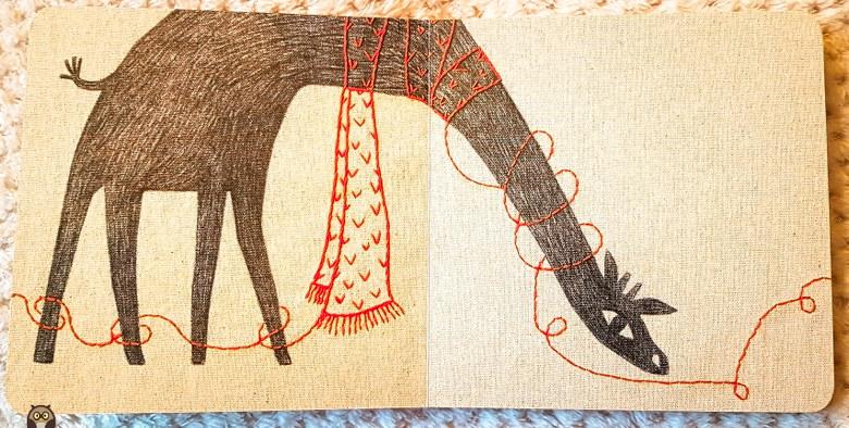 tous emmitouflés comme la girafe avec son écharpe