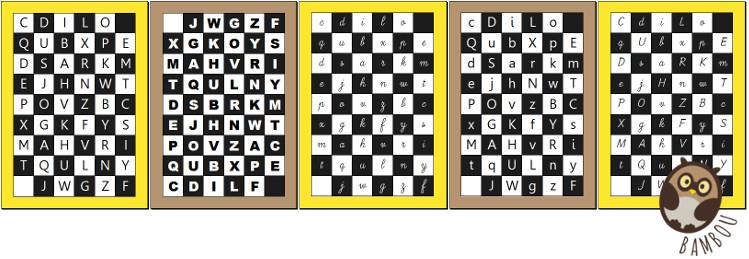 aperçu des plateaux du guilitoc des lettres