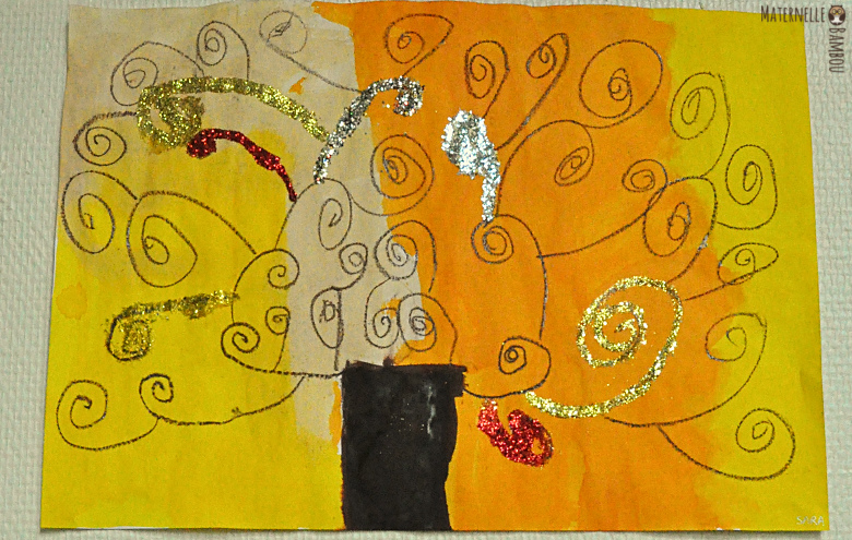 Spirales et Arbre de Vie de Gustav Klimt | Maternelle de Bambou