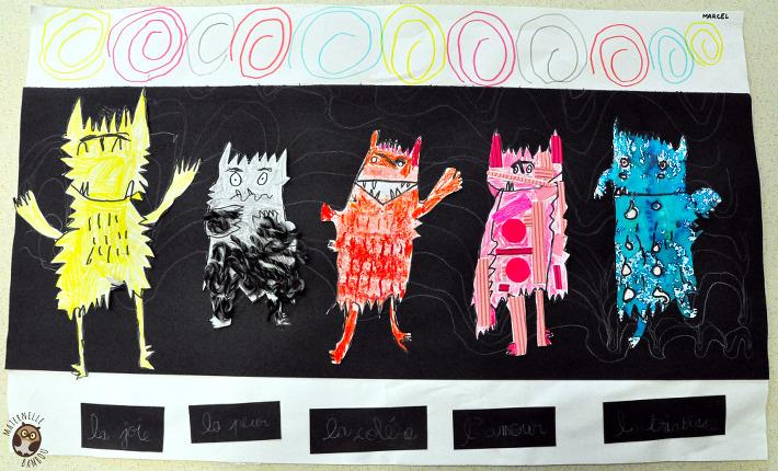 Monstres des couleurs - Couleur des émotions - Arts visuels GS