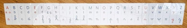 alphabet dans les trois graphies à afficher au mur