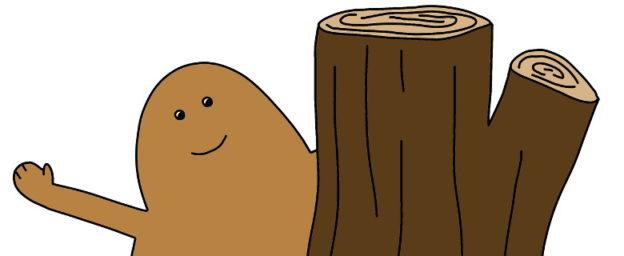 Qui se cache derrière le tronc ? C'est l'ami marron.