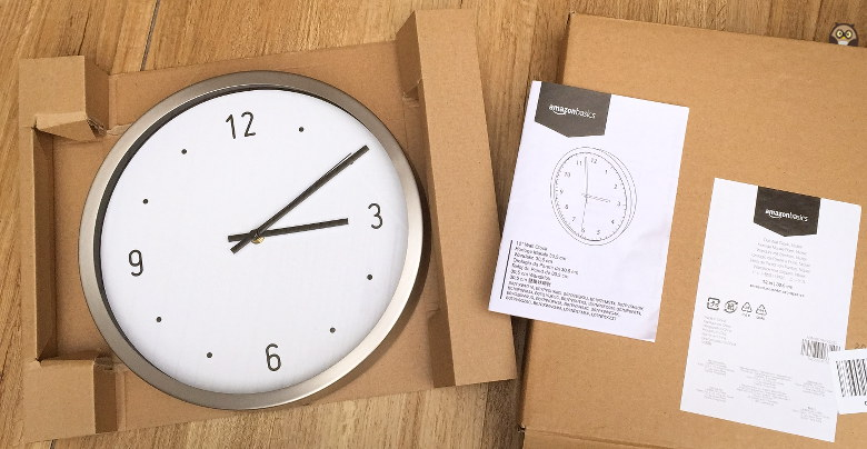 horloge murale Amazon basics