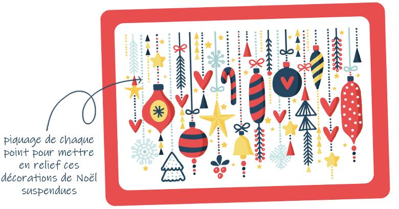 cartes à poinçonner - Noël