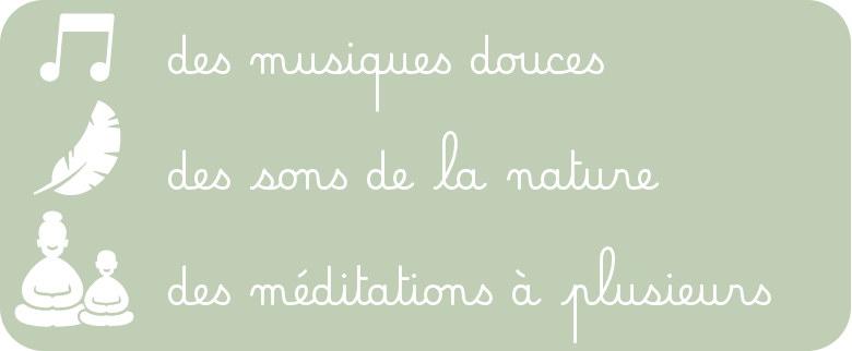 Avec Mon Petit Morphée : des musiques douces, des sons de la nature et des méditations