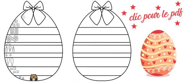 Œuf de Pâques et motifs graphiques - Ouvrir le pdf